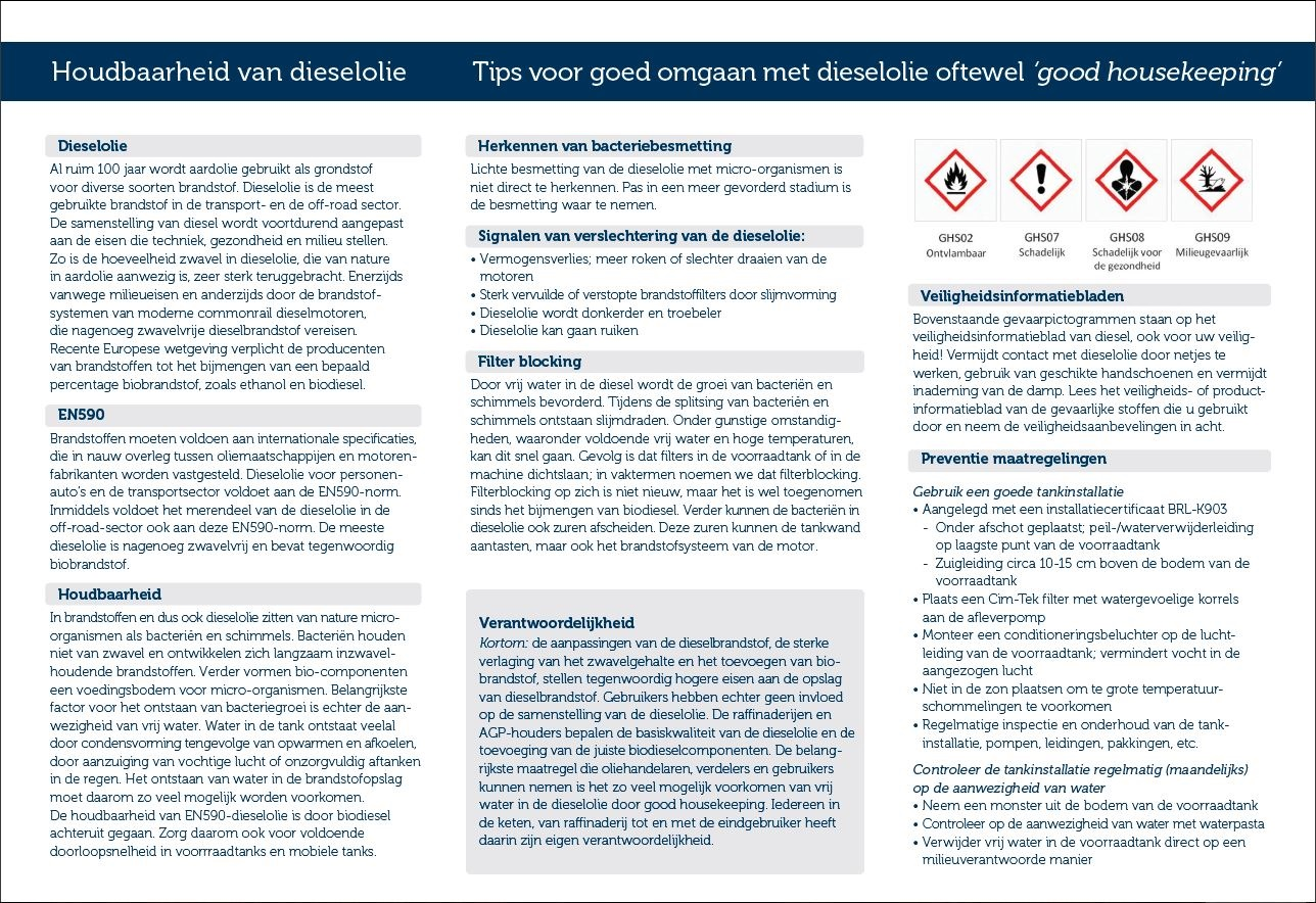 Houdbaarheid van dieselolie